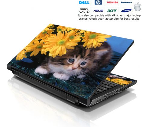 Notebook / Netbook Skin Cover Decal – Baby Cat
