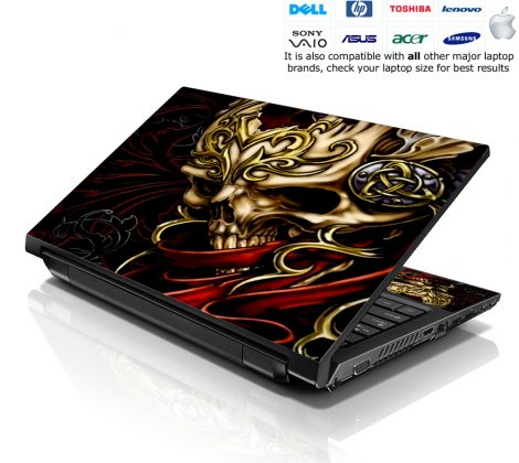 Notebook / Netbook Skin Cover Decal – Skull