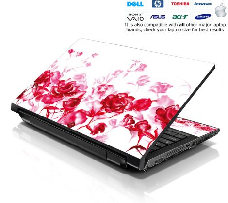 Notebook / Netbook Skin Cover Decal – Red Roses