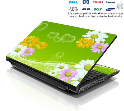 Notebook / Netbook Skin Cover Decal – Sunflowers Floral