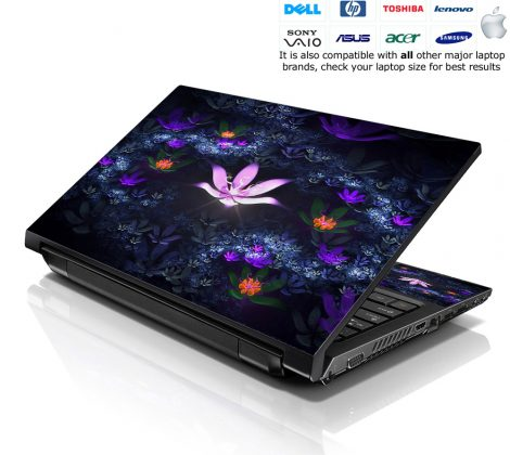 Notebook / Netbook Skin Cover Decal – Lotus Pond Flowers
