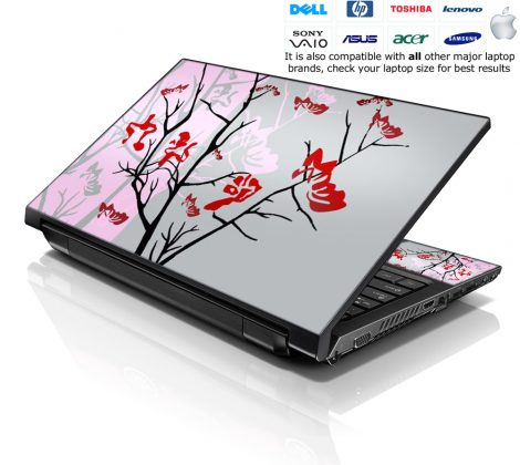 Notebook / Netbook Skin Cover Decal – Pink Gray