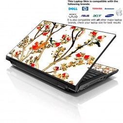 Notebook / Netbook Skin Cover Decal – Birds and Animal on Branches Love