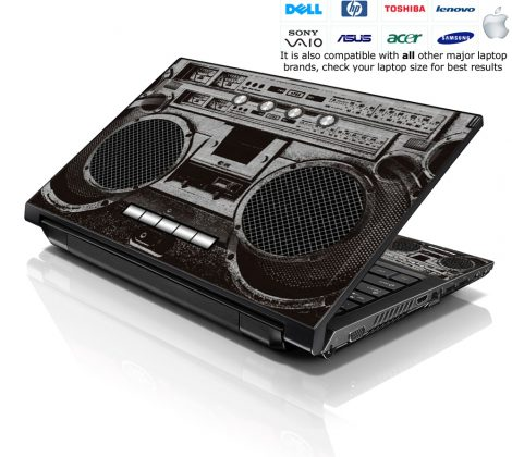 Notebook / Netbook Skin Cover Decal – Cassette Player Design