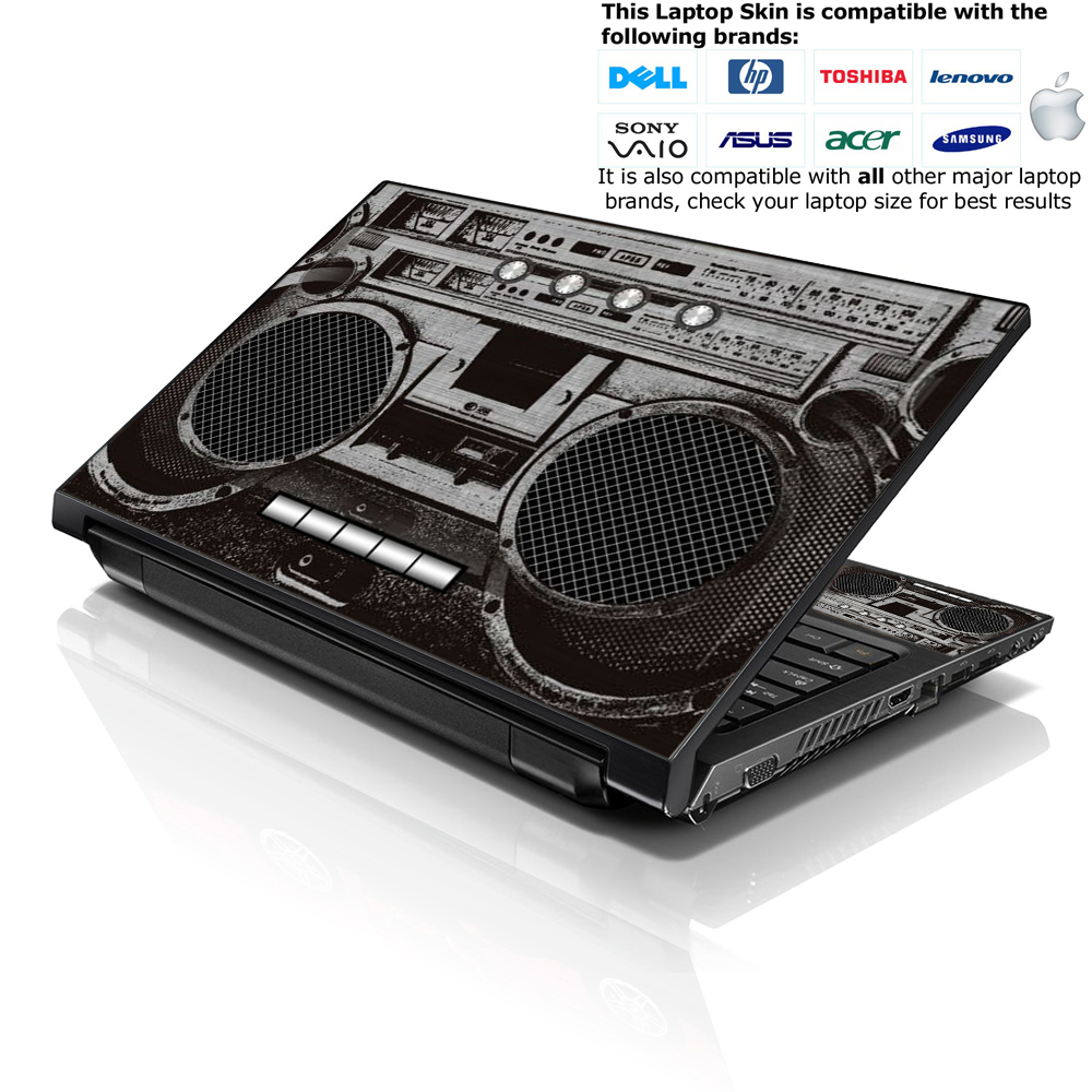 Notebook Netbook Skin Cover Decal Cassette Player Design