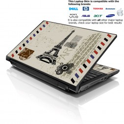 Notebook / Netbook Skin Cover Decal – Paris Design