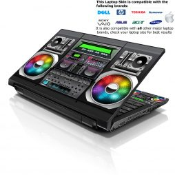 Notebook / Netbook Skin Cover Decal – DJ Mixer