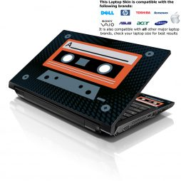 Notebook / Netbook Skin Cover Decal – Cassette Design