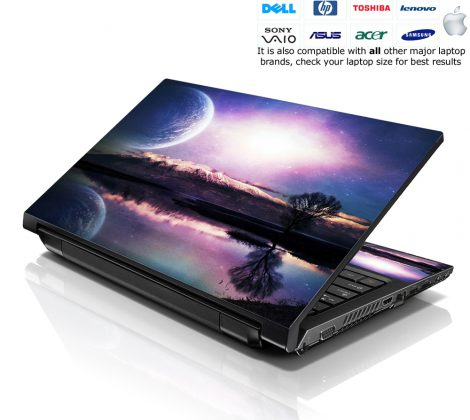 Notebook / Netbook Skin Cover Decal – Blue Moon Scenery