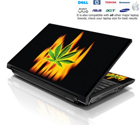 Notebook / Netbook Skin Cover Decal – Smoking Leave