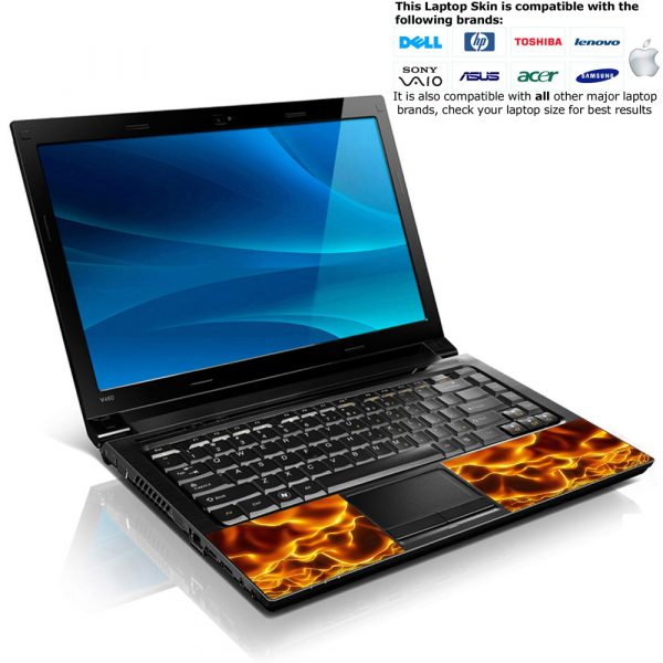 Notebook / Netbook Skin Cover Decal – Flames