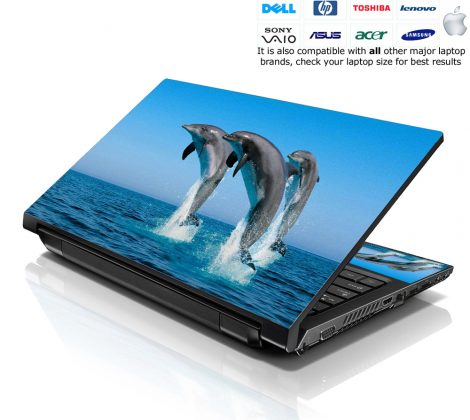 Notebook / Netbook Skin Cover Decal – Dolphins