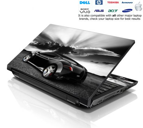 Notebook / Netbook Skin Cover Decal – Race Car Sunset