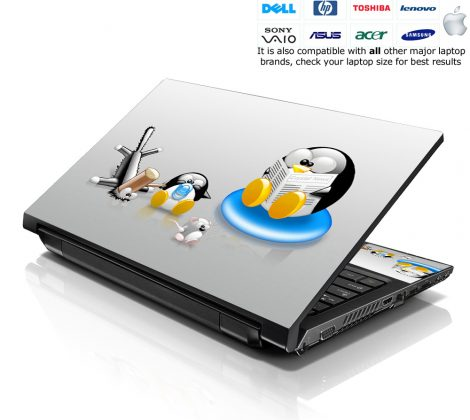 Notebook / Netbook Skin Cover Decal – Penguins
