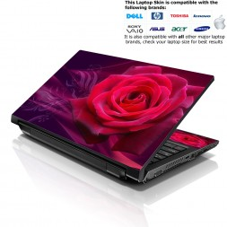 Notebook / Netbook Skin Cover Decal – Pink Rose Floral
