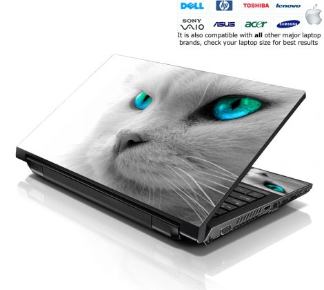 Notebook / Netbook Skin Cover Decal – Blue Eyed Cat