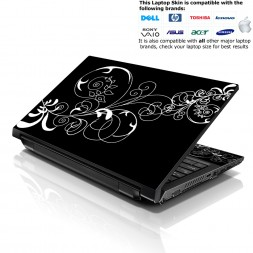 Notebook / Netbook Skin Cover Decal – Vines Floral