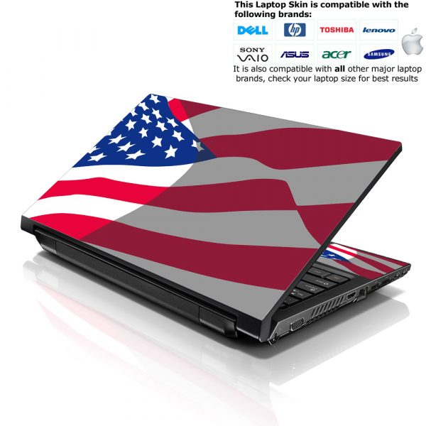 Notebook / Netbook Skin Cover Decal – USA Flag
