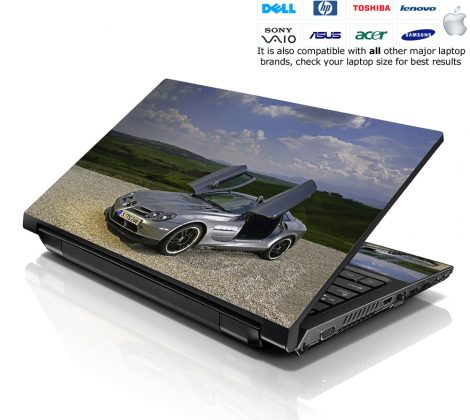 Notebook / Netbook Skin Cover Decal – Mercedes Car