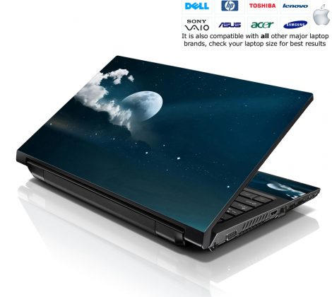 Notebook / Netbook Skin Cover Decal – Moon