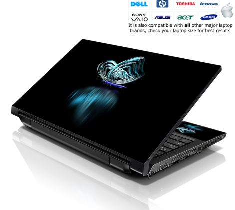 Notebook / Netbook Skin Cover Decal – Butterfly Reflection