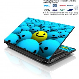 Notebook / Netbook Skin Cover Decal – Happy Face