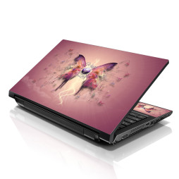 Notebook / Netbook Skin Cover Decal – Pink Butterfly Floral