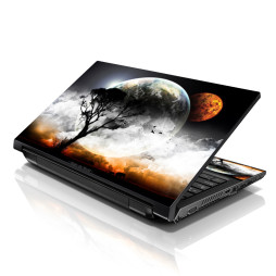 Notebook / Netbook Skin Cover Decal – Earth and Moon Eclipse