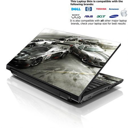 Notebook / Netbook Skin Cover Decal – Racing Cars