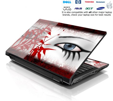 Notebook / Netbook Skin Cover Decal – Red Secretive Eye