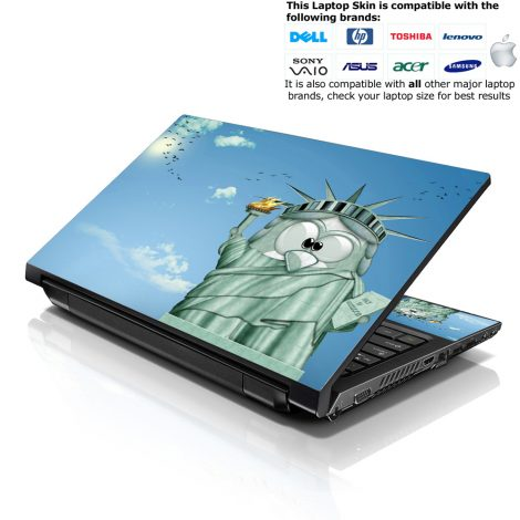 Notebook / Netbook Skin Cover Decal – Statue of Liberty Cartoon