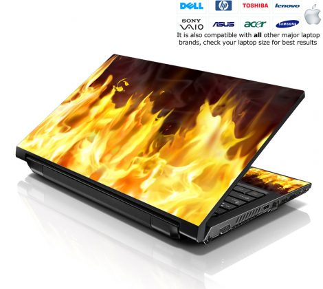 Notebook / Netbook Skin Cover Decal – Flame