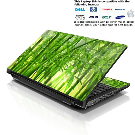Notebook / Netbook Skin Cover Decal – Bamboo in Forest