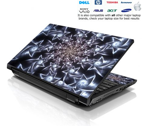 Notebook / Netbook Skin Cover Decal – Spinning Stars