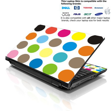 Notebook / Netbook Skin Cover Decal – Polka Dots