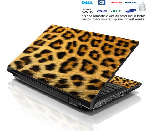 Notebook / Netbook Skin Cover Decal – Leopard Print