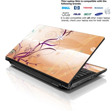 Notebook / Netbook Skin Cover Decal – Warm Floral