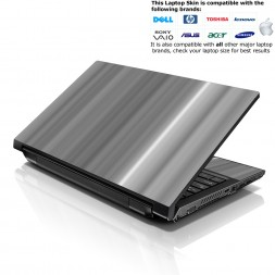 Notebook / Netbook Skin Cover Decal – White Grey Simple