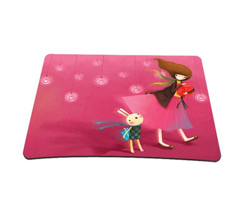 Standard 7 x 9 Inch Mouse Pad - Girl Birthday Party