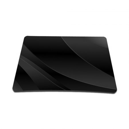 Standard 7 x 9 Inch Mouse Pad - Black Waves