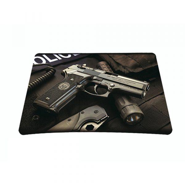 Standard 7 x 9 Inch Mouse Pad - Police Gun