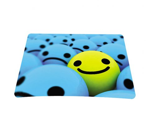 Standard 7 x 9 Inch Mouse Pad - Happy Face