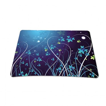 Standard 7 x 9 Inch Mouse Pad - Blue Floral