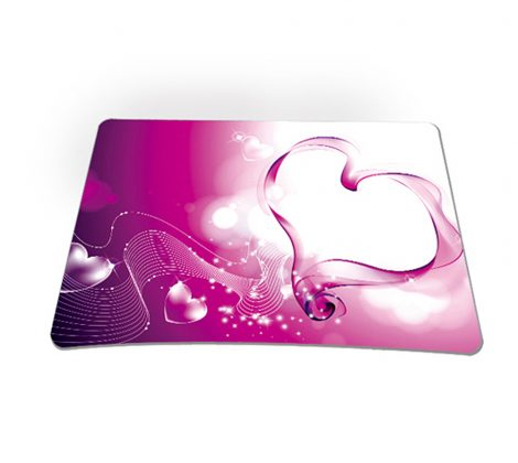 Standard 7 x 9 Inch Mouse Pad - Pink Heart