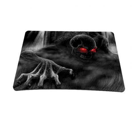 Standard 7 x 9 Inch Mouse Pad - Dark Ghost Zhombie Skull