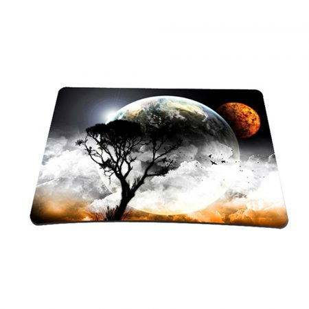 Standard 7 x 9 Inch Mouse Pad - Earth and Moon Eclipse