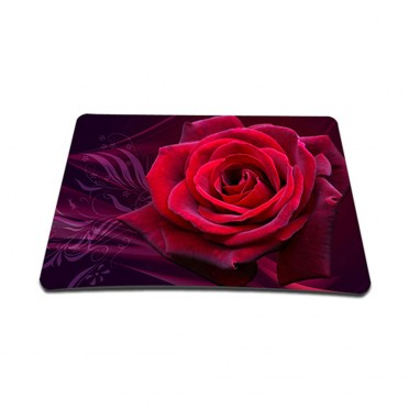 Standard 7 x 9 Inch Mouse Pad - Pink Rose Floral