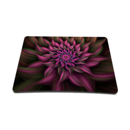 Standard 7 x 9 Inch Mouse Pad - Purple Floral Flower