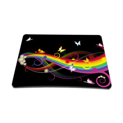 Standard 7 x 9 Inch Mouse Pad - Rainbow Butterfly