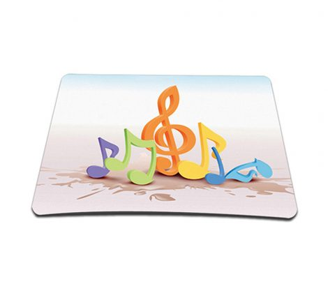 Standard 7 x 9 Inch Mouse Pad - Musical Notes